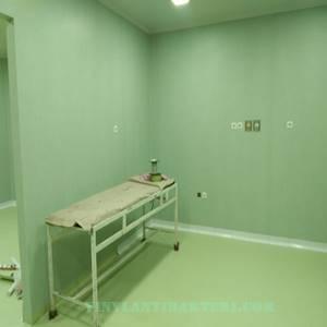 Lantai rumah sakit dan dinding ruang koridor